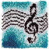 Spinrite acrylique mélange Wonderart loquet crochet Kit de 30,5cm x 30,5cm, clef de sol