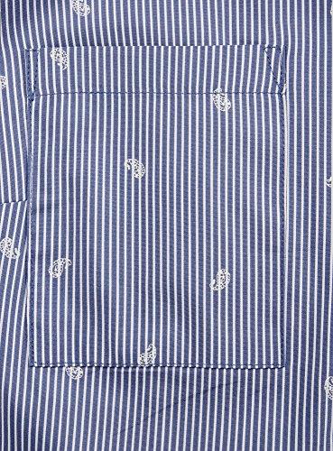 oodji Ultra Damen Tailliertes Hemd mit Brusttaschen Blau (7910S)