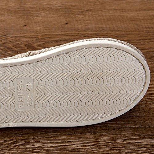 Pantoufles De Printemps Mais Anti-dérapant Accueil Chaussures Pantoufles De Tissu Durable Allusura Plain, (42-43) C. (42-43) D.