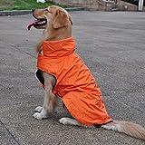Sharplace Wasserdicht Hundemantel Regenjacke Regenmantel Winterjacke Hundebekleidung Hundejacke Winter Warm Wintermantel Hundemantel für kleine mittlere große Hunde - Orange, L