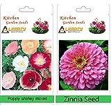 alkarty Poppy Shirley and zinnia seeds 2...