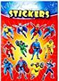 Superhero Stickers Party Bag Fillers, 12 sheets supplied