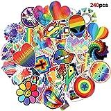 Howaf 240 Arco Iris Hippie Graffiti Vinilo Pegatinas Stickers Calcomanías Pack...