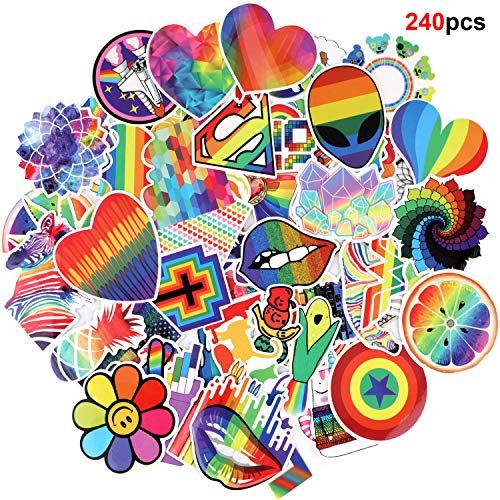 Howaf 240 Arco Iris Hippie Graffiti Vinilo Pegatinas Stickers Calcoman