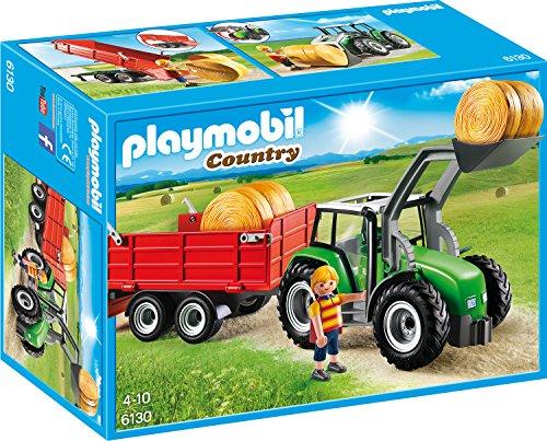 Playmobil 6130 - Großer Traktor mit Anhänger - Spielzeug-bauernhof-gebäude