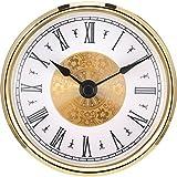 3-1/8 Zoll (80 mm) Uhr Einfügen mit Arabischen Ziffer, Quarzwerk (Gold Trim)