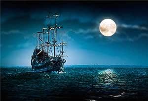 Buenn 10x7ft Piratenschiff Hintergrund Vintage Corsair Kamera