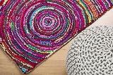 Prezzo Tappeto multicolore rettangolare in cotone e poliestere - 160x230cm - KOZAN