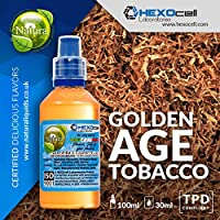 E LIQUID PARA VAPEAR - 30ml GOLDEN AGE TOBACCO (Mezcla de Cavendish, Virginia y Perique Tabacos) Shake n Vape.