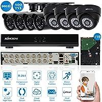 KKMOON 16CH 960H/D1 800TVL CCTV Sorveglianza DVR