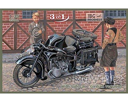 IBG - Motorrad BMW R12 R 12 Militär Zivilversion baubar 1:35 Modell-Bausatz 35001
