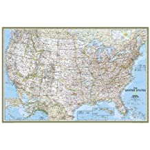 United States Classic, poster size, laminated : Wall Maps U.S. (Reference - U.S.)