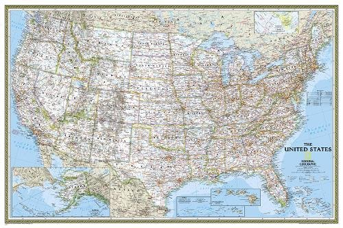 United States Classic, poster size, tubed Wall Maps U.S. (National Geographic Reference Map)