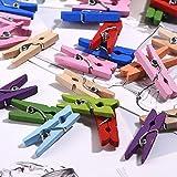 1 Zoll Mini Wäscheklammern Foto Klammern, 100 Stück (Farben-Set 1)