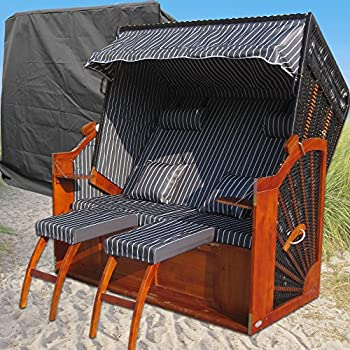 das wohnwerk zweisitzer strandkorb nordsee de luxe exklusiv f r amazon im. Black Bedroom Furniture Sets. Home Design Ideas