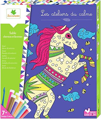 Les Ateliers du Calme - Tableaux Sable - Chevaux Et Licornes - Loisirs Créatifs Enfant - Dès 7 ans...