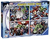 Ravensburger 07076 3 - Avengers Bumper Pack, 4 Puzzle da 100 Pezzi