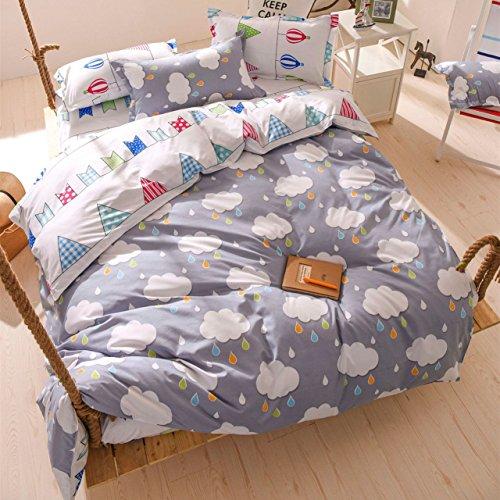 DOTBUY Bettbezug Set, 100% Super Weiche und Angenehme Mikrofaser Einfache Bettwäsche Set Gemütlich...