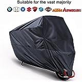 MonoJOY - Funda protectora para moto 210T, impermeable, invierno, moto, protección contra la lluvia (M)