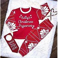 Personalised Names Christmas Pyjamas Fairisle Christmas Pyjamas Toddler Pyjamas Xmas 2018 Boys Pjs Girls Christmas Gifts Kids