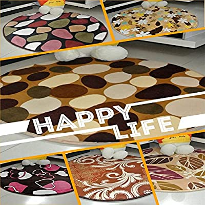 bravolotus New Multicolor Stylish Absorbent Soft Memory Foam Bathroom Floor Shower Round Mat Rug Non-slip 40*40CM - low-cost UK light shop.