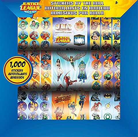 Justice League Stickers by the Roll - 1000 Stickers