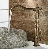FACAI168 Wasserhahn einzigen Typ, Bad Eitelkeit Toilette Wasserhahn, im europäischen Stil Vintage Küche Waschbecken Wasserhahn, heißen und kalten Wasserhahn