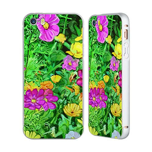 Ufficiale Howie Green Pop 215 Fiori Argento Cover Contorno con Bumper in Alluminio per Apple iPhone 6 Plus / 6s Plus Pop Art 1216