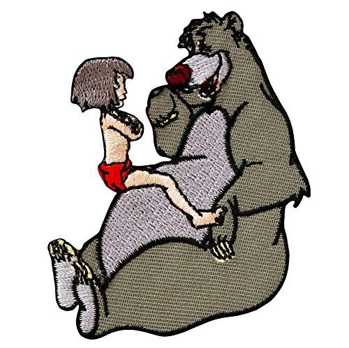 DSCHUNGELBUCH - Mowgli + Baloo - Aufnäher Aufbügler Applikation Patch - ca. 6 x 7 ()