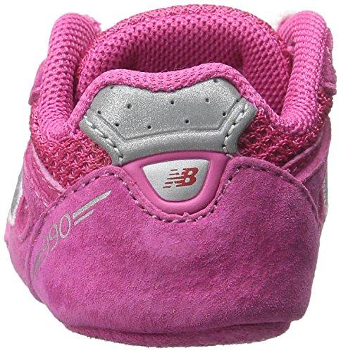 NEW BALANCE - Chaussure de berceau grise à lacets, en suède et synthétique, avec logo latéral et semelle en tissu, garçon, garçons PEC