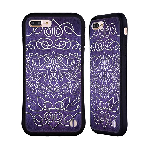 Ufficiale Brigid Ashwood Rosa Tudor Saggeza Celtica 3 Case Ibrida per Apple iPhone 7 / iPhone 8 Unicorni