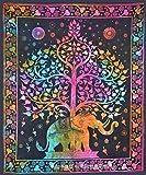 Sophia Art indischer Elefant Baum des Lebens Gypsy kleine Wand hängende Yoga Matte Poster Tapisserie Wohnheim Decor Tapisserien Wand hängend Hippie (mehr)