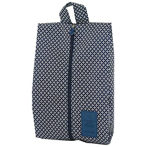 ITraveller 7 Stück Set-3 Verpackungs Würfel+3 Beutel+1shoes bag Kompresse Ihre Kleidung während der Reise (Blue) 7pcs Blau