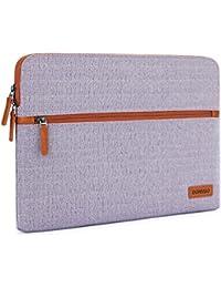 """DOMISO 12,5-13 Pouces Housse Sac en Toile de Protection Ordinateur Portable Sacoche pour Chromebook/Tablette/13 Pouces MacBook Pro/12.9"""" iPad Pro/HP/ASUS/Lenovo/Acer, Violet"""