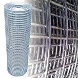 Volierendraht Silber Maschenweite 25x25mm 4-Eck (100cm x 10m, 1,45mm dick)