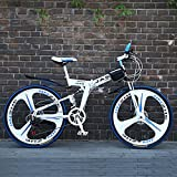 YEARLY Berg klappräder, Erwachsene klappräder 21 Geschwindigkeit Student-Geschenk Klappräder-Weiß 26inch