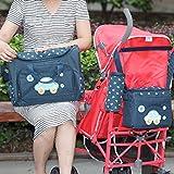Sharplace Modische 4-Teilige Wickeltasche, Babytasche, Windeltasche, Pflegetasche, Reisetasche Baby - Dunkelblau