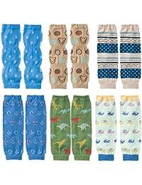 KF bebé 6pieza suave fina Summer calcetines de rodilleras manga calentadores de la pierna regalo Value Pack