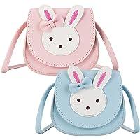 QSXX Kinder Umhängetasche, 2 Stücke PU-Leder Umhängetasche Niedliches Kaninchen Umhängetasche Nette Crossbody Tasche für…
