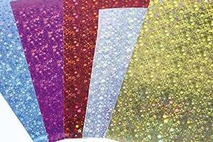 Maildor 354696C Carte holographique 35 x 50 cm 195g/m2 Sachet de 10 Feuilles 5 couleurs