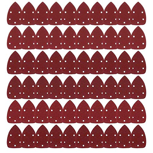 Dischi Abrasivi Carta vetrata Levigatura Carta Levigatrice per Mouse Levigatrice per Smerigliatura Levigatura Fogli Gancio e Passante Assortiti 40, 60, 80, 100, 120, 150, 180, 240, 320, 400