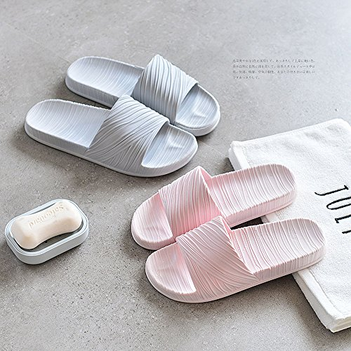 WILLIAM&KATE Pantofole delle unisex delle coppie antisdrucciolevoli di estate casuali del pattino del sandalo del pavimento dell'interno Grigio