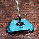 Dragon Flame Lazy 3 in 1 Haushalts Reinigung Hand Push Automatische Sweeper Besen – inkl. Besen & Kehrschaufel & Mülleimer – Reiniger ohne Strom Umweltfreundliche grün (blau)