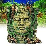 EgBert Antike Römische Ruinen Ornament Für Aquarium Fisch Tank Dekoration Maya Menschen Maske Verstecken
