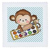 3drose Cute Little Monkey Künstler mit Pinsel und Farben