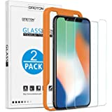 OMOTON [2 Pack] Glass Screen Protector with Scratch Resist, No Bubbles, HD Clear, 9H Hardness, Easy Installation, Self…