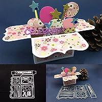 Gemini_mall Box DIY Embossing Cutting Dies Birthday Festival Greeting Card Art Decor