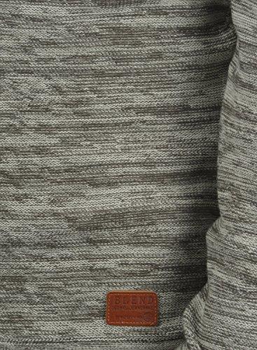 BLEND Batuso Herren Strickpullover Feinstrick Pulli mit Rundhals-Ausschnitt aus 100% Baumwolle Meliert Stone Mix (70813)