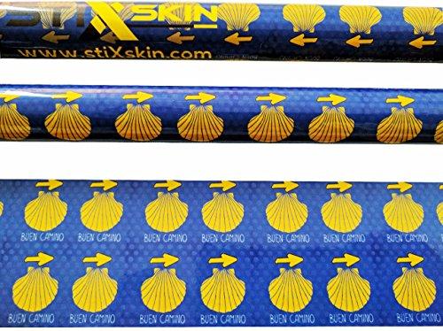 Stixskin 'Buen Camino' 2 décoratifs en vinyle Wraps pour marche nordique, randonnée, Trekking, hockey et de marche | personnalisée Designs pour hommes, femmes et enfants | Leki, Exel, Gabel, Fizan, Swix |