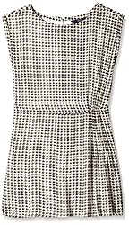 Allen Solly Womens Modal A-Line Dress (AWDR515C00297_Ivory, Black and Beige_L)